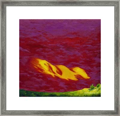 View From Bog Framed Print