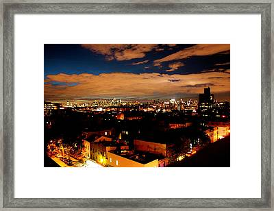 View From Brooklyn  Framed Print by Brian  Vitagliano