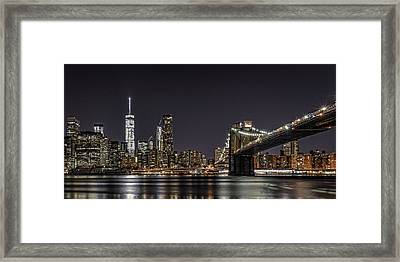 View From Brooklyn Bridge Park Framed Print