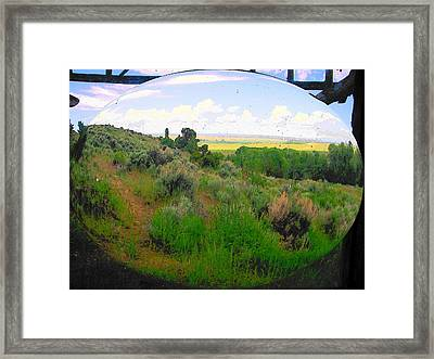 View From Cabin Window Framed Print by Lenore Senior
