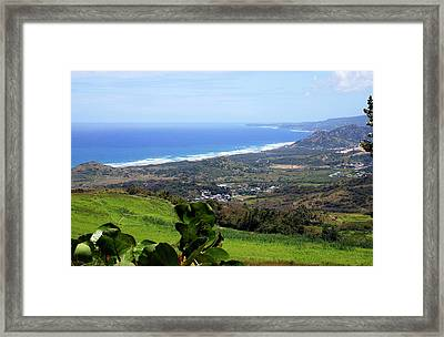 Framed Print featuring the photograph View From Cherry Hill, Barbados by Kurt Van Wagner