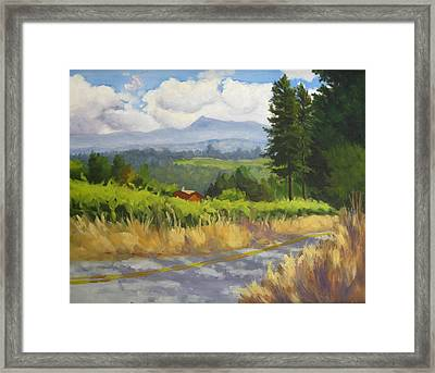 View From Cherry Ridge Framed Print by Char Wood