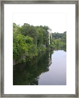 View From Chimera Framed Print by Nancy Ferrier