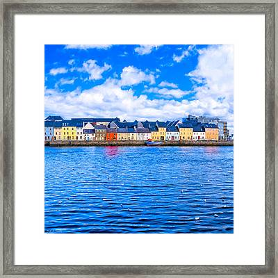 Framed Print featuring the photograph View From Claddagh Quay - Galway by Mark E Tisdale