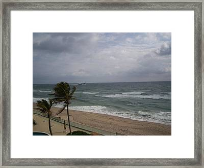 View From Condo Framed Print by Karen Thompson