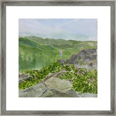 Framed Print featuring the painting View From Craggy Gardens - A Watercolor Sketch  by Joel Deutsch