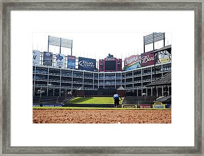 View From Dugout Framed Print by Malania Hammer