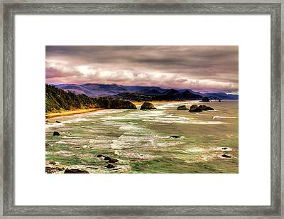 View From Ecola II Framed Print by David Patterson