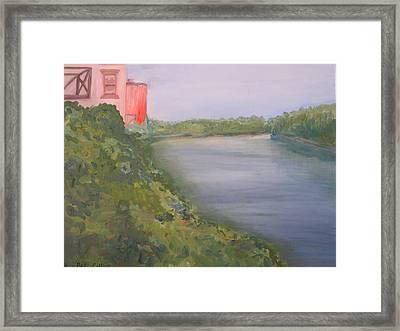 View From Edmund Pettus Bridge Framed Print by Patricia Caldwell