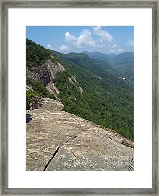 View From Exclamation Point At Chimney Rock Nc Framed Print
