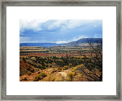 Framed Print featuring the photograph View From Ghost Ranch, Nm by Kurt Van Wagner