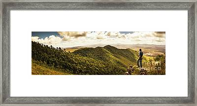 View From Halfway Up Mount Zeehan Framed Print