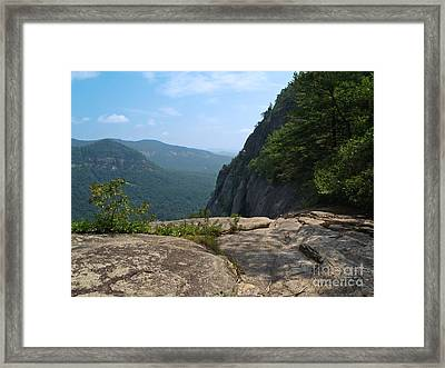 View From Hickory Nut Gorge Nc Framed Print