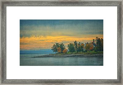 View From La Malbaie Framed Print by CR  Courson