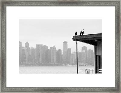 View From Londsdale Quay Framed Print by Barbara  White