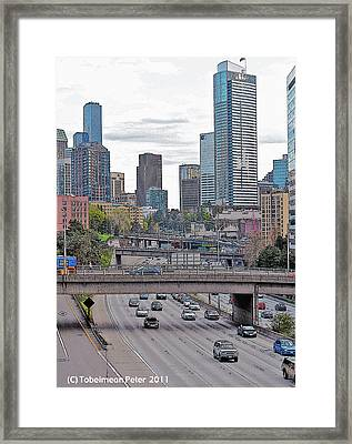 View From Melrose Ave Framed Print