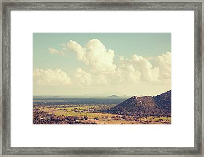 View From Mihintale Framed Print by Joseph Westrupp