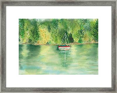 Framed Print featuring the painting View From Millbay Ferry by Vicki  Housel