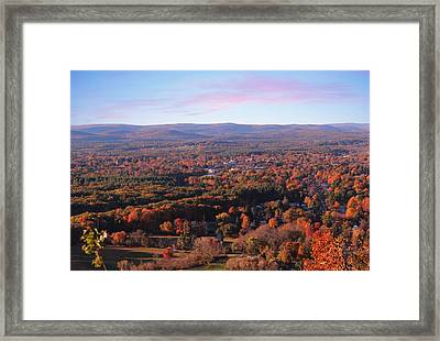 View From Mount Tom In Easthampton, Ma Framed Print