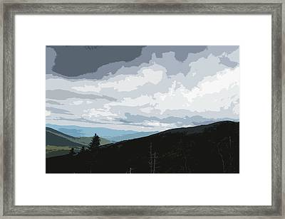 Framed Print featuring the photograph View From Mount Washington II by Suzanne Gaff
