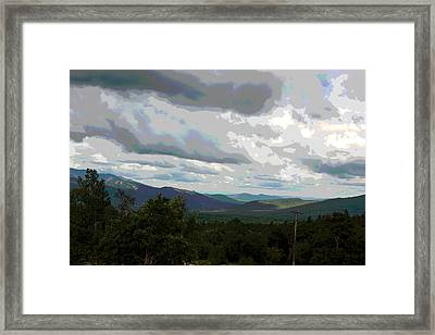 Framed Print featuring the photograph View From Mount Washington IIi by Suzanne Gaff