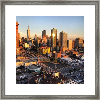 Hell's Kitchen Skyline Framed Print