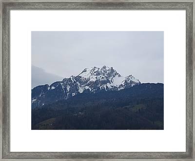 View From My Art Studio - Pilatus - March 2018 Framed Print