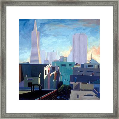 View From My Studio Framed Print by Aaron Memmott