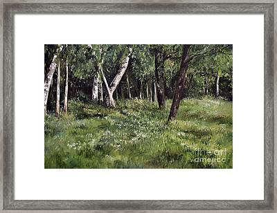 Framed Print featuring the painting View From My Studio by Laurie Rohner