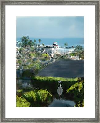 View From My Studio Framed Print by Russell Pierce