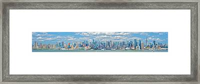 Framed Print featuring the photograph View From New Jersey 2 by Theodore Jones