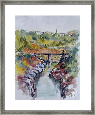 View From No Hands Bridge Framed Print