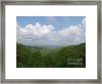 View From Ober Gatlinburg Framed Print by Barb Montanye Meseroll