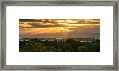 View From Overlook Park Framed Print