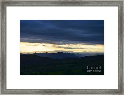 View From Palomar 9633 Framed Print