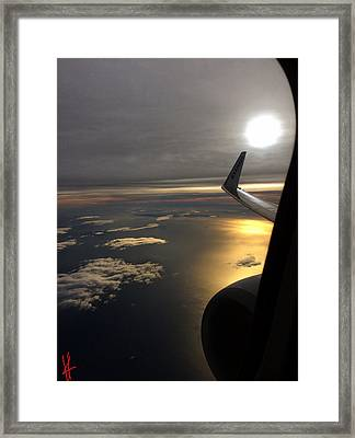 View From Plane  Framed Print