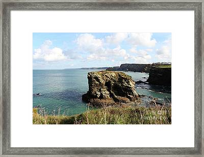 Framed Print featuring the photograph View From Porth Peninsula by Nicholas Burningham