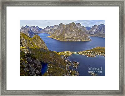 View From Reinebringen Framed Print by Heiko Koehrer-Wagner