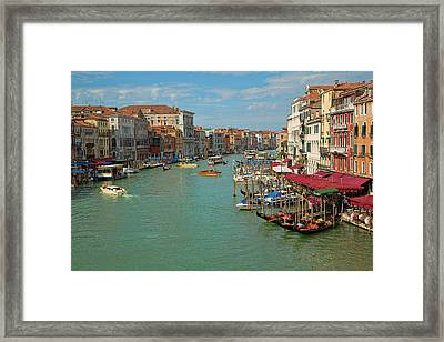 Framed Print featuring the photograph View From Rialto Bridge by Sharon Jones