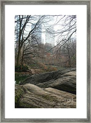 View From Rocks Framed Print