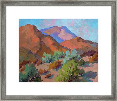 View From Santa Rosa - San Jacinto Visitor Center Framed Print by Diane McClary