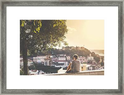 View From Senhora Do Monte Viewpoint Framed Print