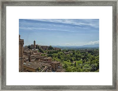 View From Sienna In Italy Framed Print by Patricia Hofmeester