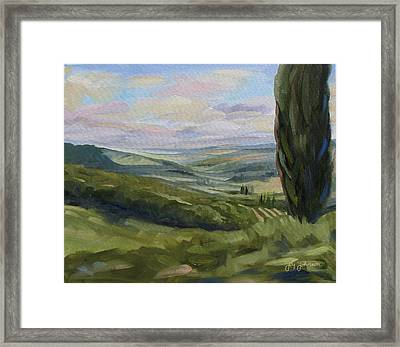 View From Sienna Framed Print by Jay Johnson