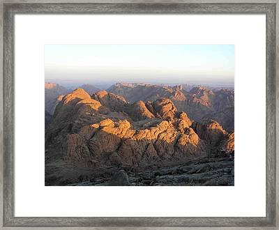 view from Sinai Mountain Egypt Framed Print by Evguenia Men