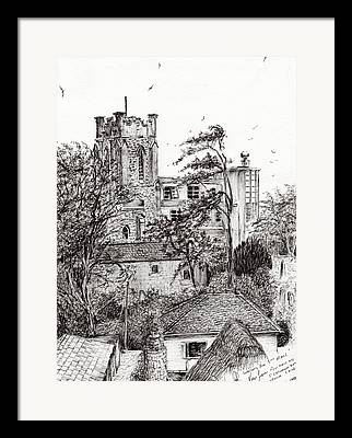 Catherine White Drawings Framed Prints