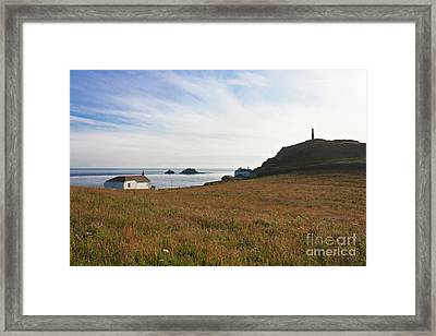 View From St Helen's Oratory Cape Cornwall Framed Print