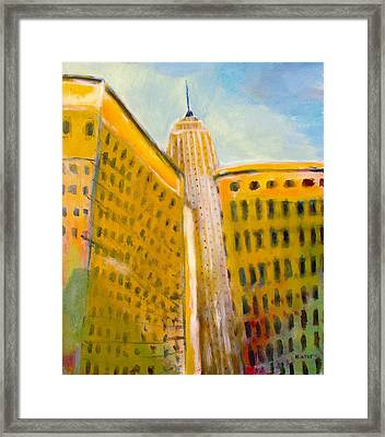 View From The 33 St Framed Print by Habib Ayat