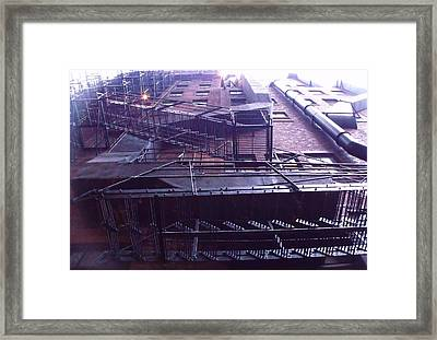 View From The Alley Framed Print