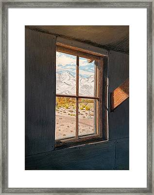View From The Barracks Framed Print by Joy Lavery
